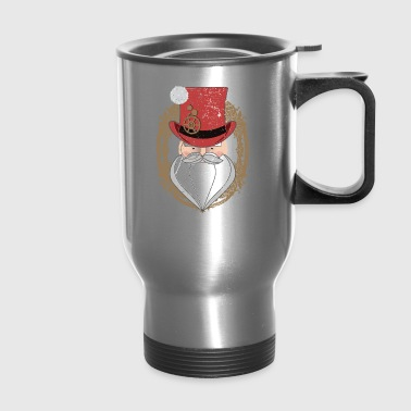 Steampunk Santa Top Hat Monocle Victorian West - Travel Mug