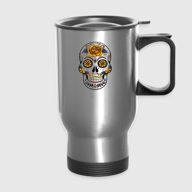 Awesome Sugar Skull T shirt - Travel Mug
