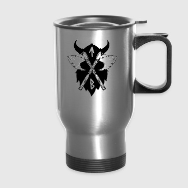 Vikings Viking Axe, Greeting from Valhall - Travel Mug