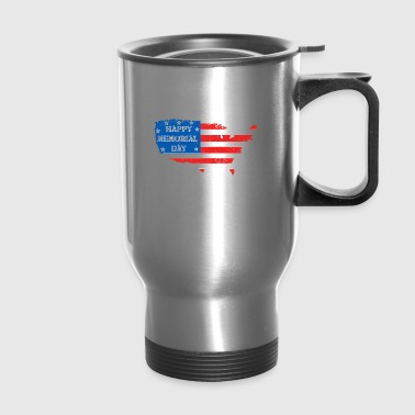 Happy Memorial Day. American flag shirt - Travel Mug