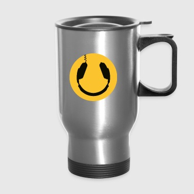 DJ Headphones Smiley - Travel Mug