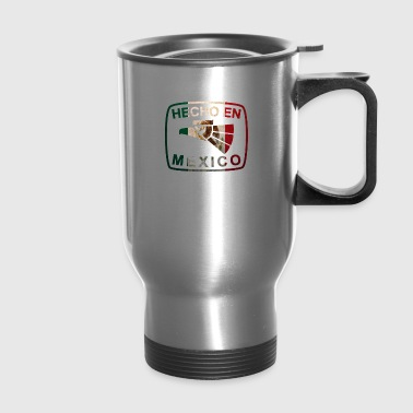 Cool Mexican Shirt Mexican Flag Shirt for Mexican Pride Hecho En Mexico - Travel Mug