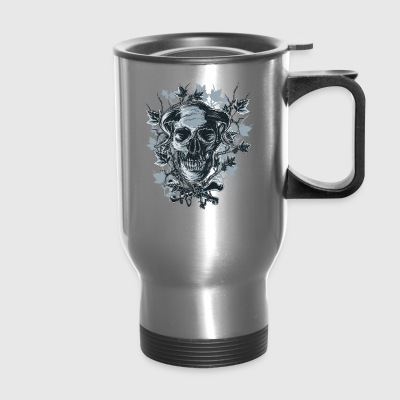 The horned skull. Exciting mystical demon T-shirt! - Travel Mug