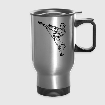 kung fu sports logo - Travel Mug