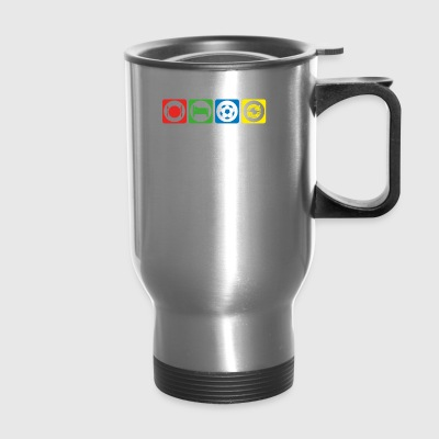 geschenk eat sleep repeat fussball ultras stuermer - Travel Mug