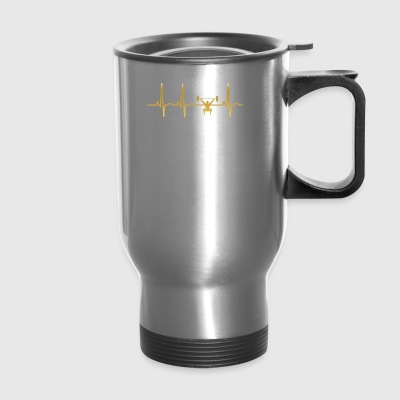 evolution ekg heartbeat cross fitness - Travel Mug
