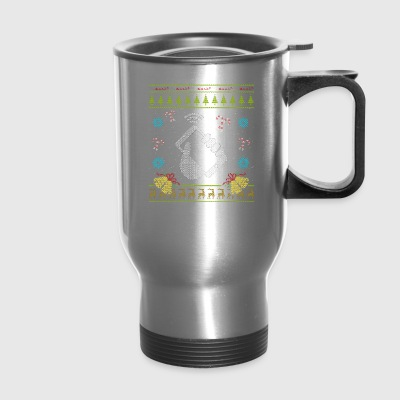 Phone Christmas Ugly Sweater Funny Cell Phone Mobile Phone - Travel Mug