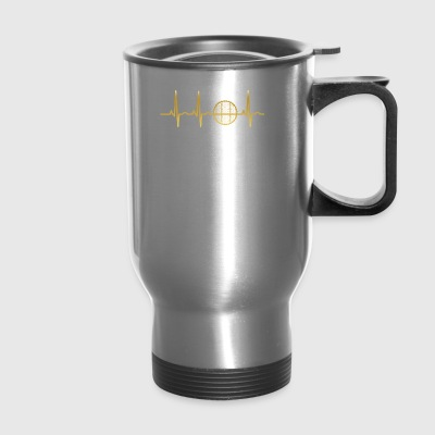 evolution ekg heartbeat cycling reifen wheel cycle - Travel Mug