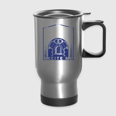 Cuffs And Sirens Excite Me Police Officer Gifts Police Wife - Travel Mug