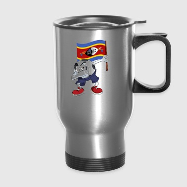 Swaziland Dabbing Soccer Ball - Travel Mug