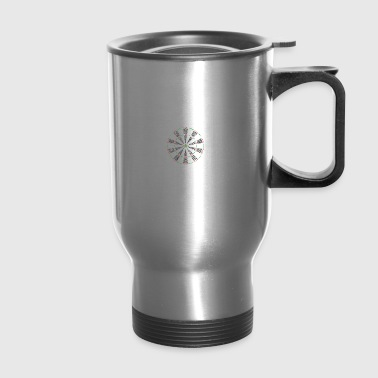 Darts it´s in my DNA game bulls eye bar gift - Travel Mug