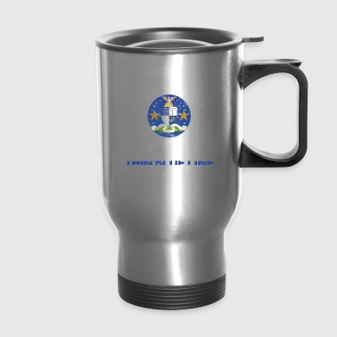Delaware Police Shirt Thin Blue Line Flag Shirt - Travel Mug
