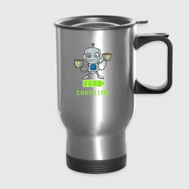 Coffee lovers charging funny - Travel Mug