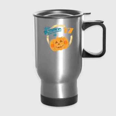 Halloween Pumpkin 17th Birthday - Travel Mug