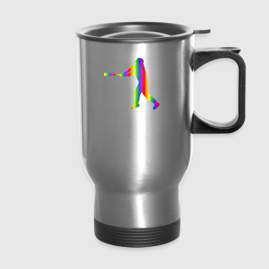 Colorful baseball Rainbow - Travel Mug