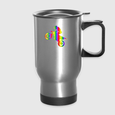 Colorful Motocross Rainbow - Travel Mug
