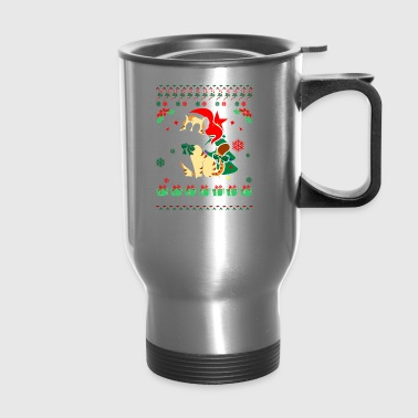 Cat Ugly Christmas Sweater - Travel Mug