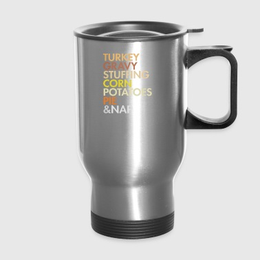 turkey thanksgiving food - Travel Mug