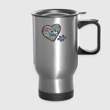 Cute Autism Heart Autism Awareness - Travel Mug