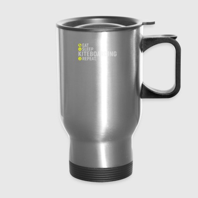 Eat, sleap, kiteboarding, repeat - gift - Travel Mug