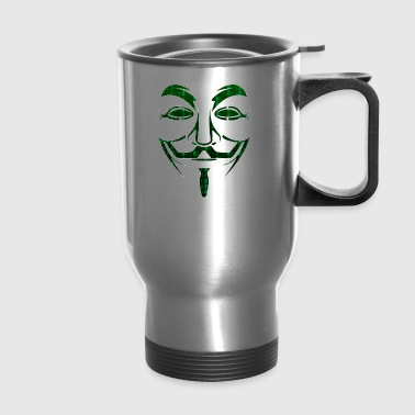 Guy Fawkes Anonymous Hacker Hacktivist Cyber - Travel Mug
