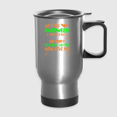 This Halloween Tired Moody Criminal Justice Candy - Travel Mug