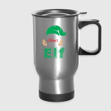 Moms Little Elf Christmas Xmas - Travel Mug
