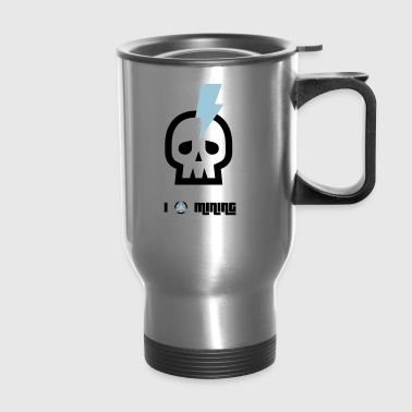 mining skull bitcoin crypto nerd pc cpu symbol min - Travel Mug