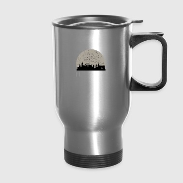 Nottingham Full Moon Skyline - Travel Mug