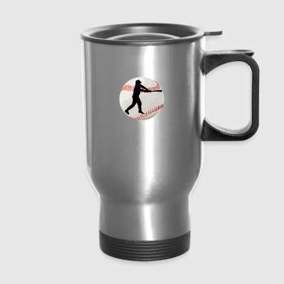 Baseball Batter Silhouette - Travel Mug