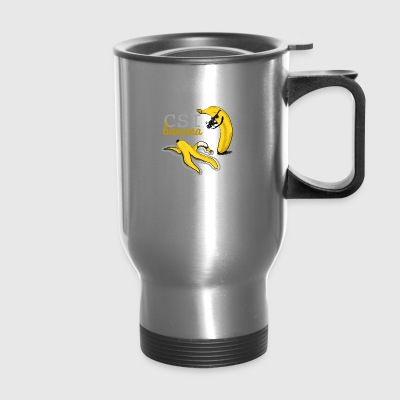 Banana geek funny csi - Travel Mug