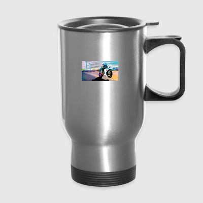 MOTORCYCLE IN MOTION - Travel Mug