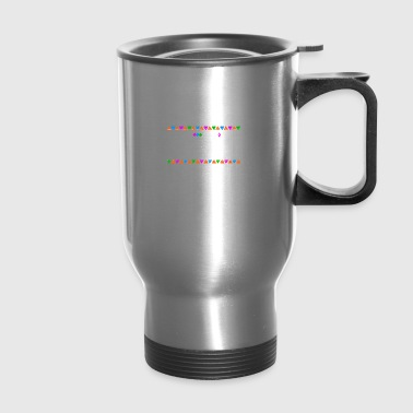 Stronger - Tribal Design (White Letters) - Travel Mug