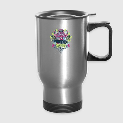 motor_show_cars_and_girls - Travel Mug