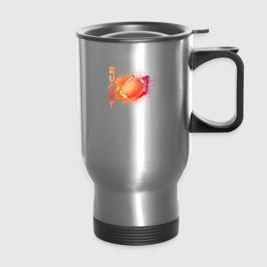 rugby tee shirt - Travel Mug