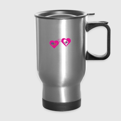The Love Between Father And Daughter T Shirt - Travel Mug
