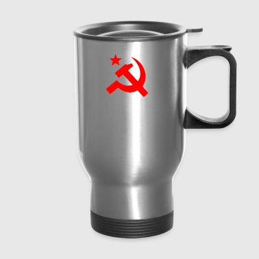 Communism Hammer Sickle Red - Travel Mug