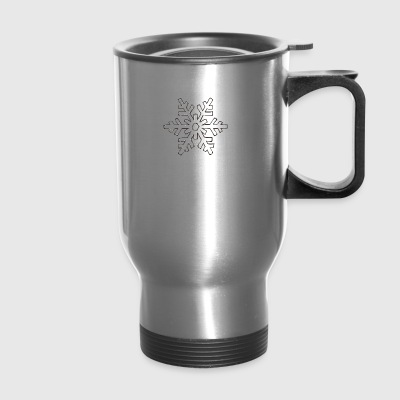 snowflake 1 - Travel Mug