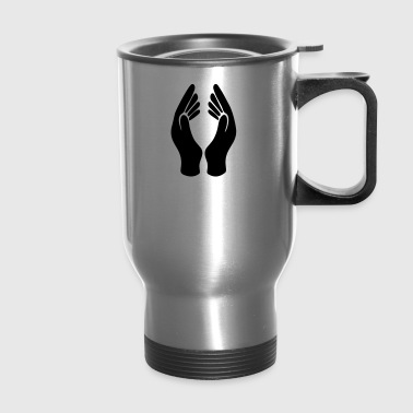Hands Silhouette - Travel Mug