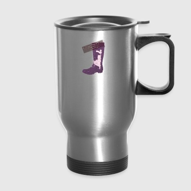 Gummy Boot lilac - Travel Mug
