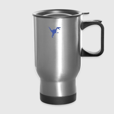Velociraptor Playing Piano - Travel Mug