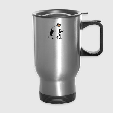 Banksy Kids Play T V Ball - Travel Mug