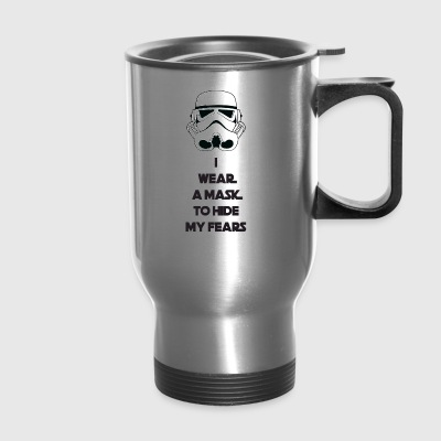 Storm Troopers Mask - Black Text - Travel Mug