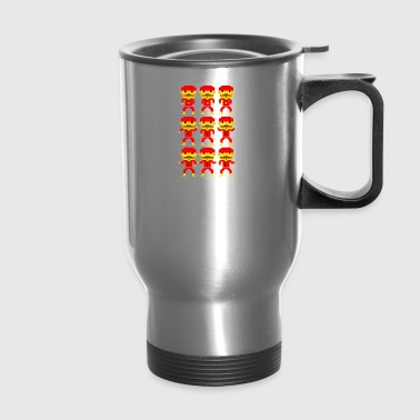 Dance of the pixel men - Travel Mug