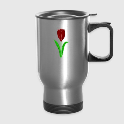 red tulip - Travel Mug