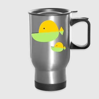 Jawed fish Tshirt - Travel Mug