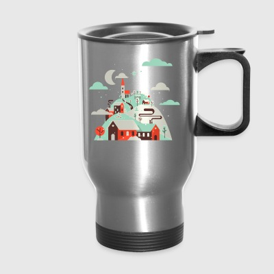 Silent Night.Holy Night. Winter Village.Christian. - Travel Mug
