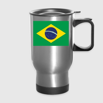 Brazil Flag Country Travel Brazilian Map Graphic - Travel Mug