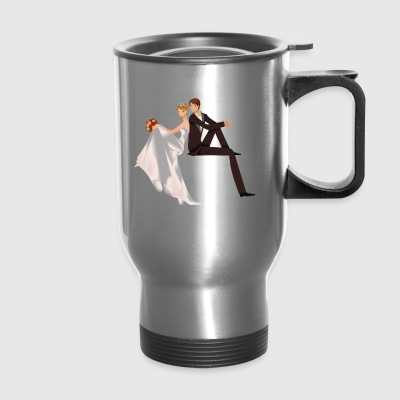 cute couple wedding - Travel Mug