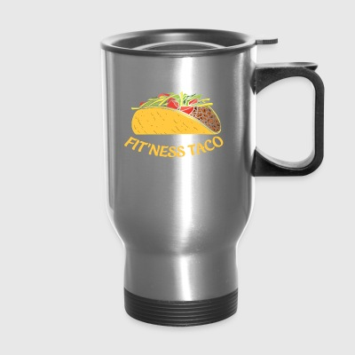 Funny Taco T Shirt Fit This Fitness Taco Funny G - Travel Mug